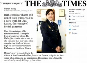Olga Lizana en The Times