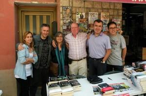 Octavi Serret con Lorenzo Silva y Carlos Zanón
